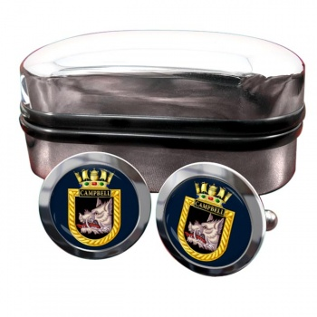 HMS Campbell (Royal Navy) Round Cufflinks