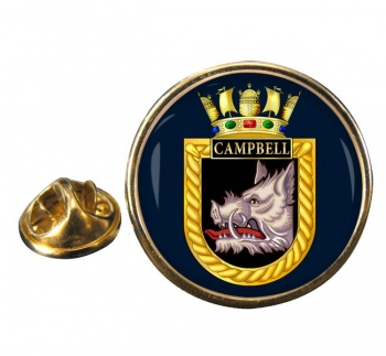 HMS Campbell (Royal Navy) Round Pin Badge