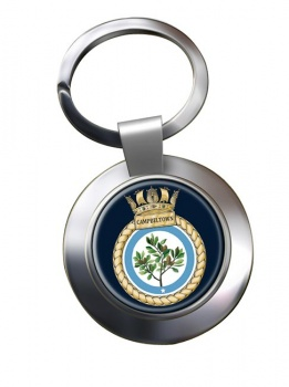 HMS Campbeltown (Royal Navy) Chrome Key Ring