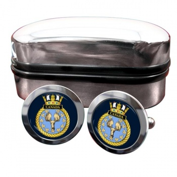 HMS Canada (Royal Navy) Round Cufflinks