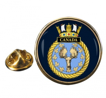 HMS Canada (Royal Navy) Round Pin Badge