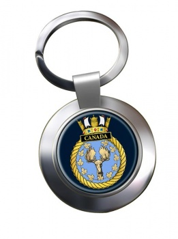 HMS Canada (Royal Navy) Chrome Key Ring