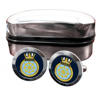 HMS Catherine (Royal Navy) Round Cufflinks