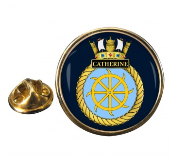 HMS Catherine (Royal Navy) Round Pin Badge