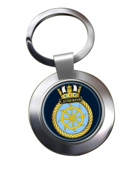 HMS Catherine (Royal Navy) Chrome Key Ring