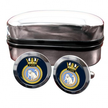 HMS Cato (Royal Navy) Round Cufflinks