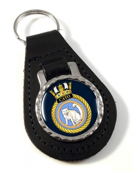 HMS Cato (Royal Navy) Leather Key Fob