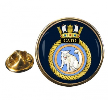 HMS Cato (Royal Navy) Round Pin Badge