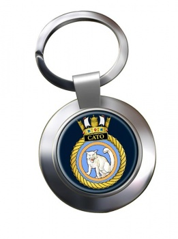 HMS Cato (Royal Navy) Chrome Key Ring