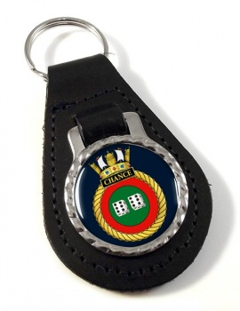 HMS Chance (Royal Navy) Leather Key Fob