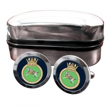 HMS Charger (Royal Navy) Round Cufflinks