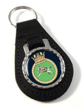 HMS Charger (Royal Navy) Leather Key Fob