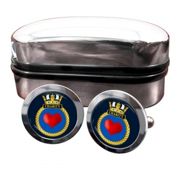 HMS Charity (Royal Navy) Round Cufflinks