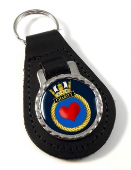 HMS Charity (Royal Navy) Leather Key Fob