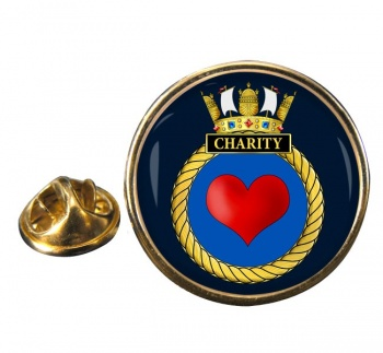 HMS Charity (Royal Navy) Round Pin Badge