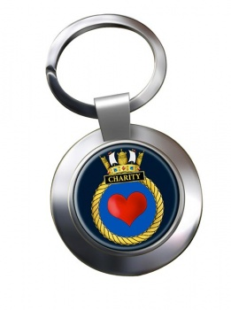 HMS Charity (Royal Navy) Chrome Key Ring