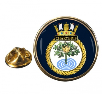 HMS Charybdis (Royal Navy) Round Pin Badge