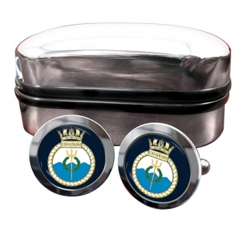 HMS Chatham (Royal Navy) Round Cufflinks