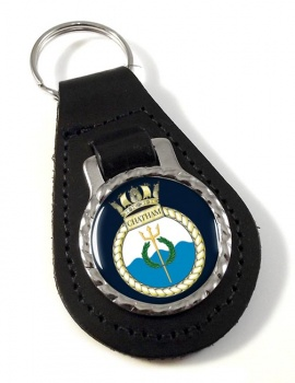 HMS Chatham (Royal Navy) Leather Key Fob
