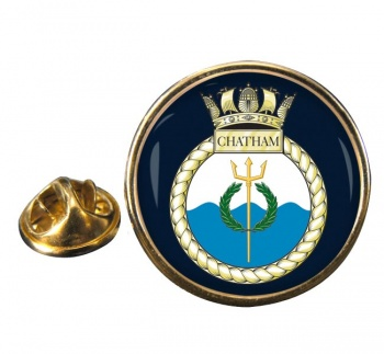 HMS Chatham (Royal Navy) Round Pin Badge