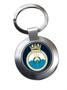 HMS Chatham (Royal Navy) Chrome Key Ring