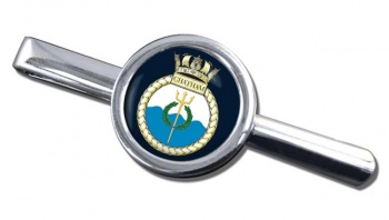 HMS Chatham (Royal Navy) Round Tie Clip