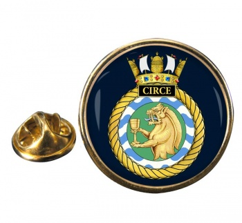 HMS Circe (Royal Navy) Round Pin Badge