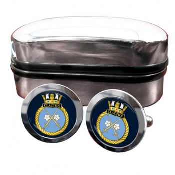 HMS Clacton (Royal Navy) Round Cufflinks