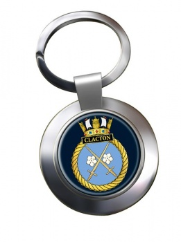 HMS Clacton (Royal Navy) Chrome Key Ring