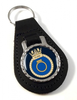 HMS Clyde (Royal Navy) Leather Key Fob