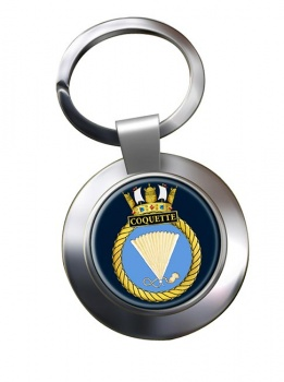 HMS Coquette (Royal Navy) Chrome Key Ring