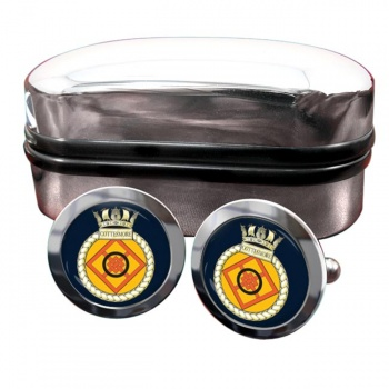 HMS Cottesmore (Royal Navy) Round Cufflinks