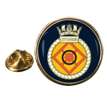 HMS Cottesmore (Royal Navy) Round Pin Badge