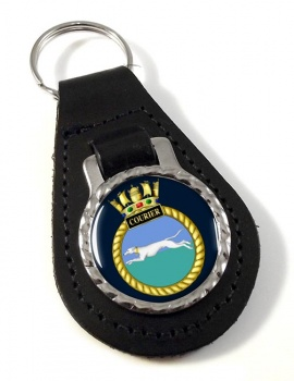 HMS Courier (Royal Navy) Leather Key Fob