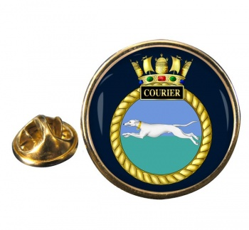 HMS Courier (Royal Navy) Round Pin Badge