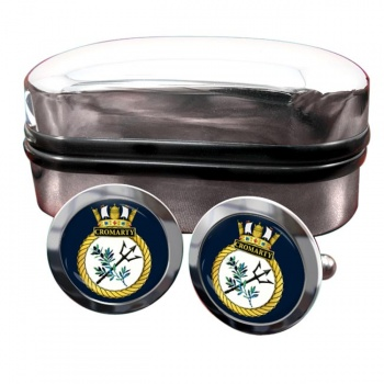 HMS Cromarty (Royal Navy) Round Cufflinks