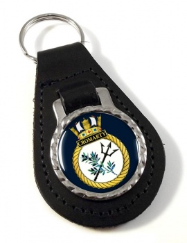 HMS Cromarty (Royal Navy) Leather Key Fob