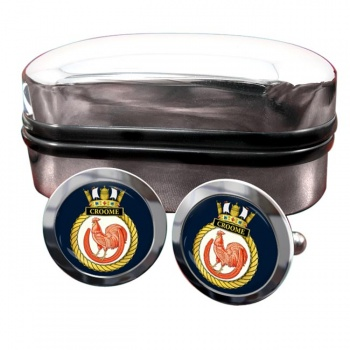 HMS Croome (Royal Navy) Round Cufflinks