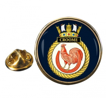 HMS Croome (Royal Navy) Round Pin Badge