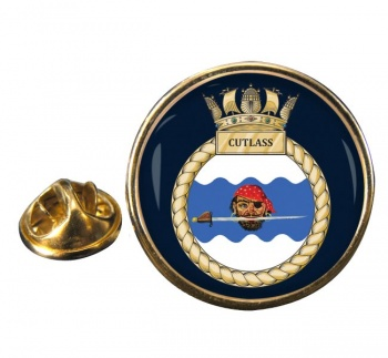 HMS Cutlass (Royal Navy) Round Pin Badge
