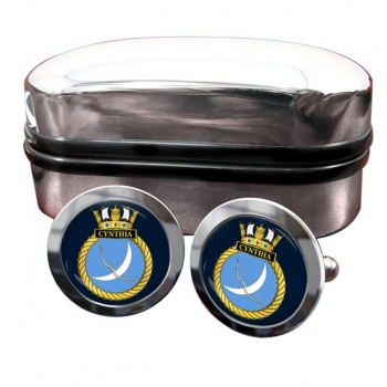 HMS Cynthia (Royal Navy) Round Cufflinks
