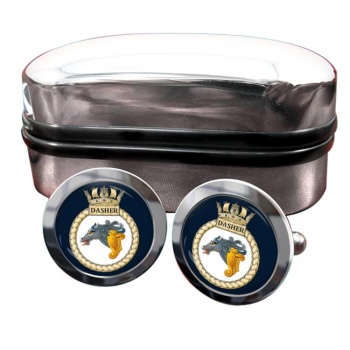 HMS Dasher (Royal Navy) Round Cufflinks