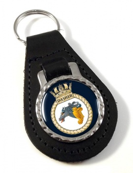 HMS Dasher (Royal Navy) Leather Key Fob