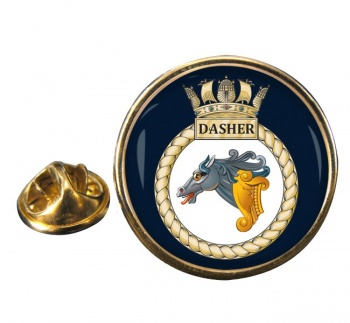 HMS Dasher (Royal Navy) Round Pin Badge