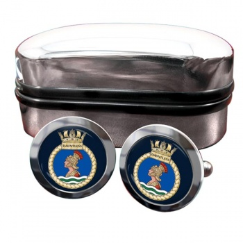 HMS Dauntless (Royal Navy) Round Cufflinks