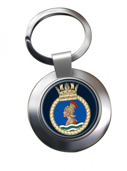 HMS Dauntless (Royal Navy) Chrome Key Ring
