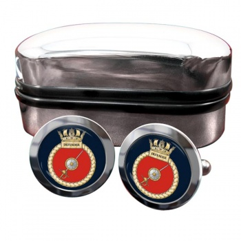 HMS Defender (Royal Navy) Round Cufflinks