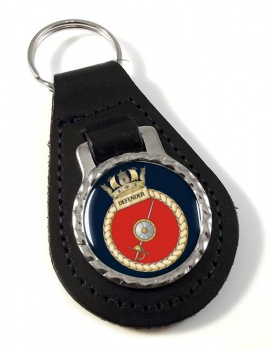 HMS Defender (Royal Navy) Leather Key Fob