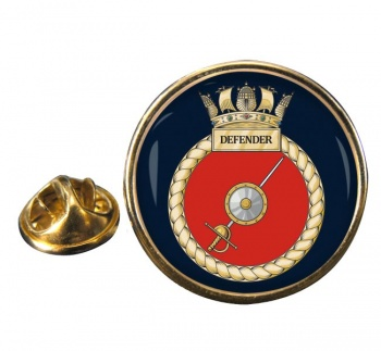 HMS Defender (Royal Navy) Round Pin Badge