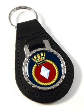 HMS Diamond (Royal Navy) Leather Key Fob